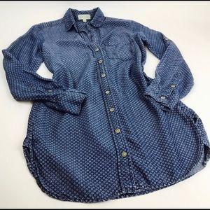 Cloth & Stone chambray printed tunic XS
